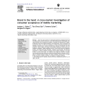 Brand in the hand : A cross-market investigation of consumer acceptance of mobile marketing   Rohm, Andrew J.