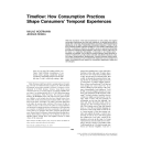 Timeflow: How Consumption Practices Shape Consumers' Temporal Experiences | WOERMANN, Niklas