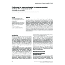 Preference for green packaging in consumer product choices : Do consumers care? | Rokka, Joonas